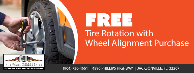 Free Tire Rotation with Wheel Alignment Purchase