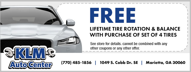Free Lifetime Tire Rotation and Balance with Purchase of Set of 4 Tires