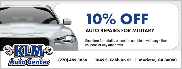 10% Off Auto Repairs for Military