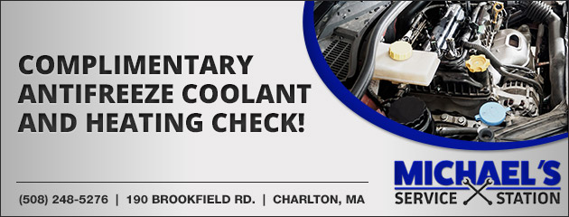 Complimentary Antifreeze Coolant and Heating Check!