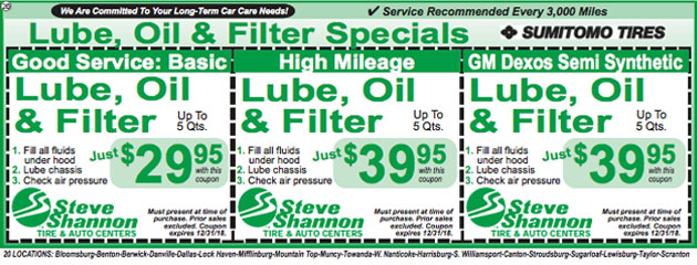 lube oil filter changes