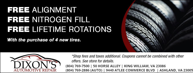 Free Alignment, Free Nitrogen Fill, & Free Lifetime Rotations
