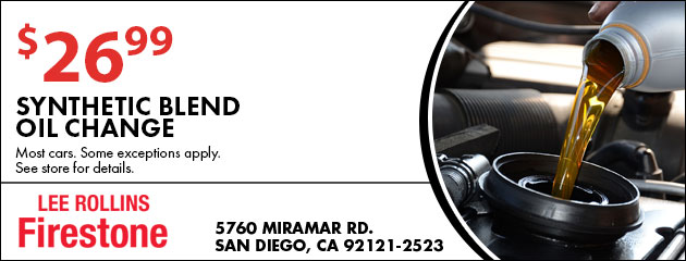 $26.99 Synthetic Blend Oil Change