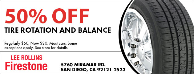 50% Off Tire Rotation and Balance