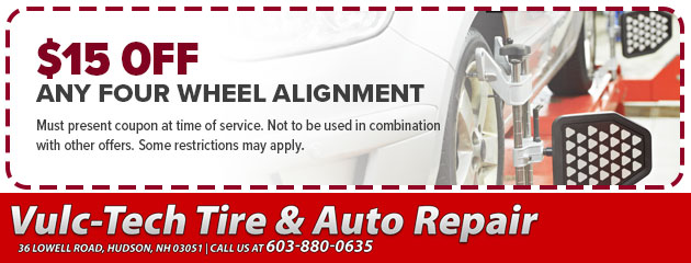 VulcTech Auto Repair $15 Off Alignment