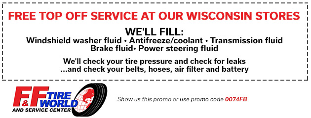 Free Top Off Service at our Wisconsin Stores