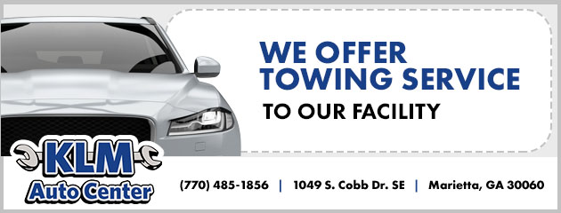 We Offer Towing Service to Our Facility