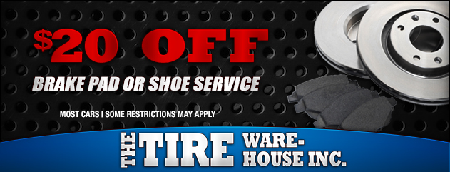$20 Off Brake Pad or Shoe Service