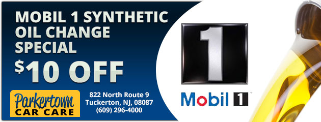 Mobil 1  Synthetic Oil Change  $10 Off