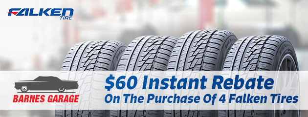 $60 Instant Rebate On The Purchase Of 4 Falken Tires