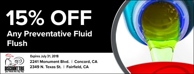 15% off any preventative fluid flush