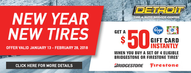 $50 Instant Gift Card With Purchase of Select Tires