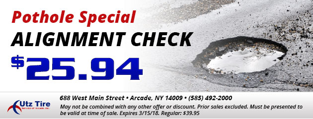Pothole special - Alignment check - $25.94