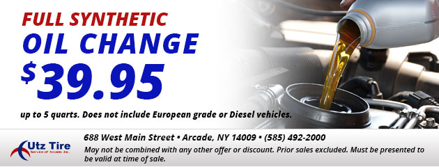 $39.95 Full Synthetic Oil Change