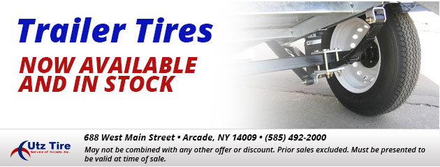 Trailer tires now available and in stock.