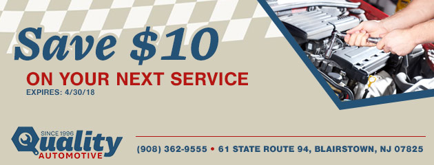 Save $10 on your next service