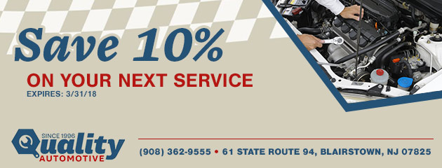 Save 10% on your next service