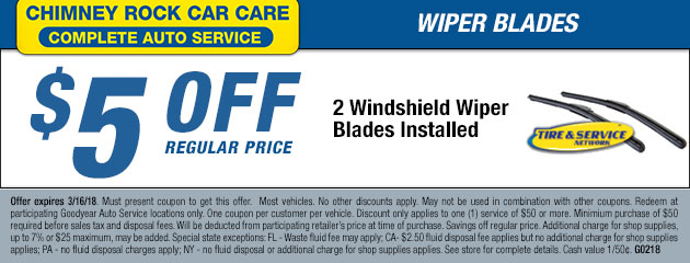 $5 Off Windshield Wiper Blades