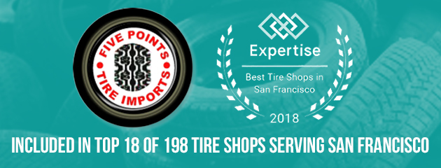 INCLUDED IN TOP 18 OF 198 TIRE SHOPS  SERVING SAN FRANCISCO