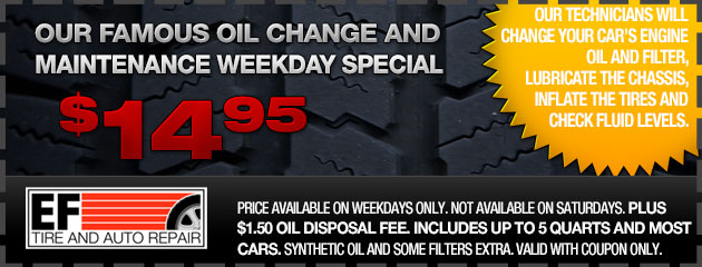 Oil Change and Maintenance Special