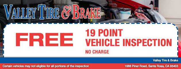 19 point Vehicle Inspection – no charge