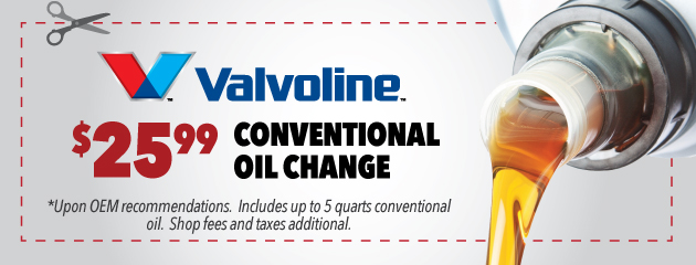 $25.99 Conventional Oil Change