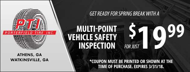 Spring Break Multi-Point Vehicle Safety Inspection