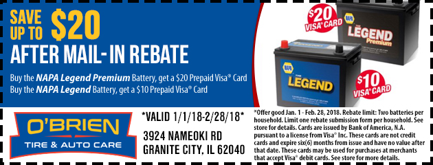 Save on NAPA Batteries