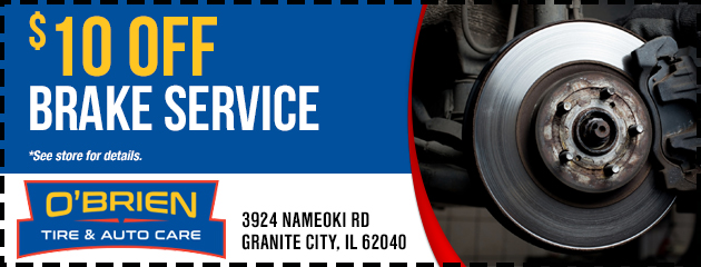 $10 Off Brake Service Special