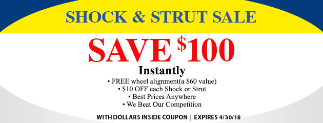 Shock & Strut Sale