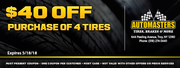 $40 Off Purchase of 4 Tires