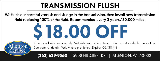 $18 OFF Transmission Flush