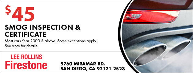 $45 Smog Inspection & Certificate