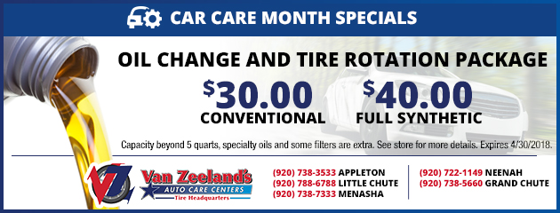 Oil Change & Tire Rotation Package