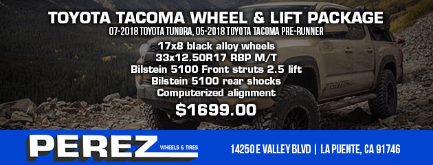 TOYOTA TACOMA WHEEL & LIFT PACKAGE