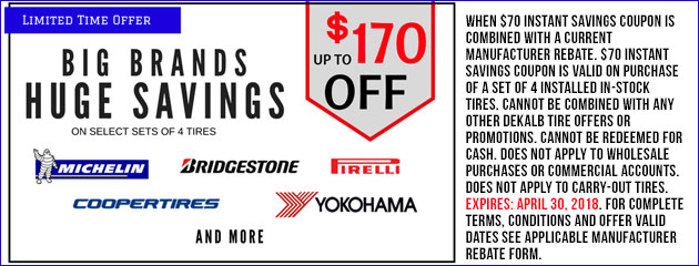 Up to $170 Off Tires