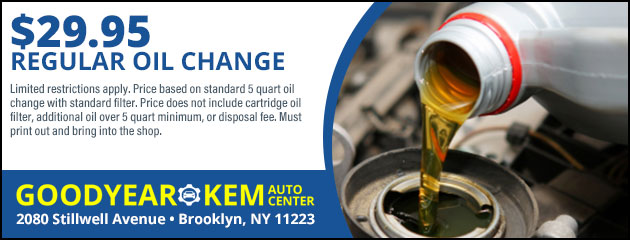 Regular Oil Change Special - 29.95