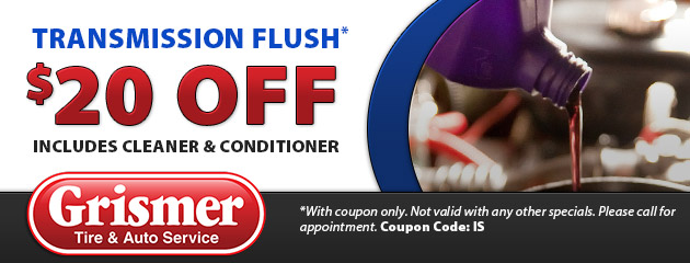 $20 Off Transmission Flush