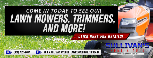 Check out Our Lawn Mowers, Trimmers, and More!