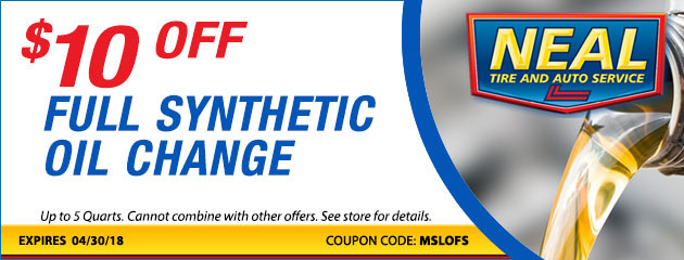 $10 Off Synthetic Oil Change Special