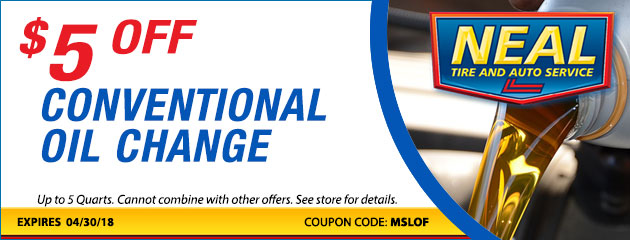 $5 Off Conventional Oil Change Special