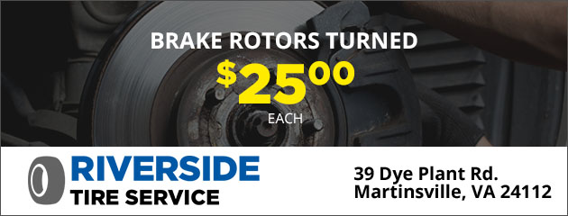 Brake Rotors Turned $25 Each