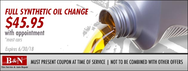 Full Synthetic Oil Changes - $45.95