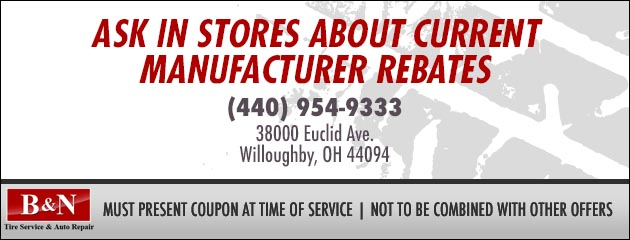 Ask in Stores About Current Manufacturer Rebates