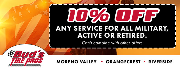 Riverside, Moreno Valley CA Tires & Repair | Buds Tire Pros