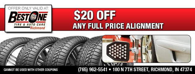 $20 Off Any Full Price Alignment