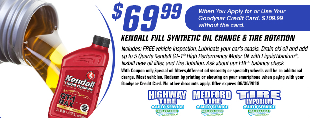 $69.99 Full Synthetic Oil Change Coupon