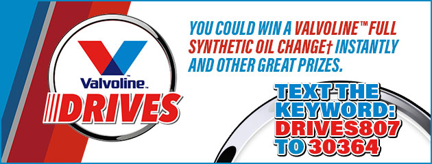 Valvoline Drives Promotion