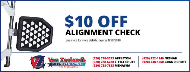 $10 Off an Alignment Check