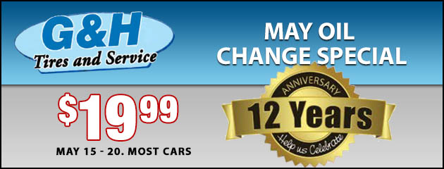 May Oil Change Special